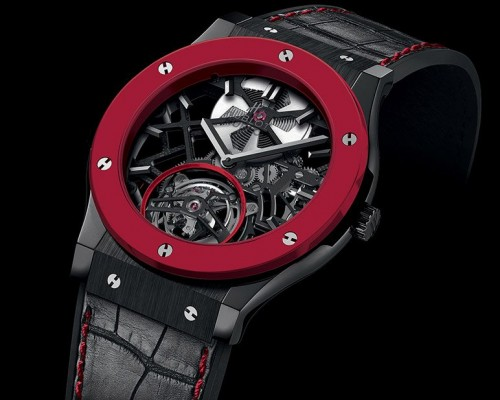 Hublot Red'n'Black Skeleton Tourbillon